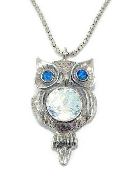 My Owl Pendent - Roman Glass & Sterling Silver 925