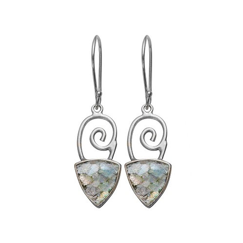 Ancient Roman Glass Sterling Silver - Joy Earrings
