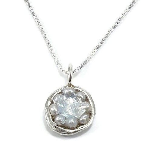 Round Dream Pendent - Roman Glass Sterling Silver 925