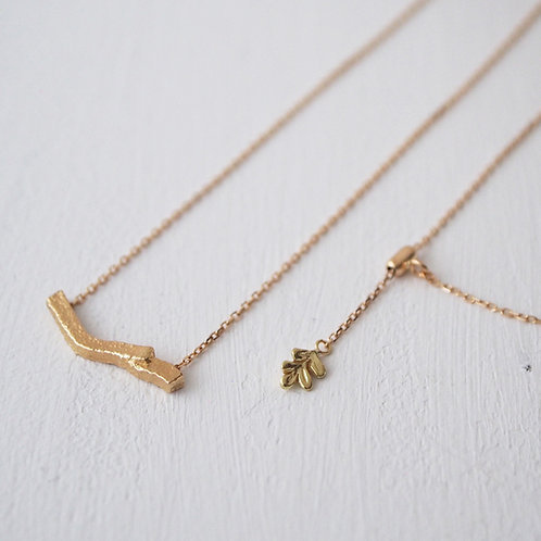 Gold Branch Long Necklace