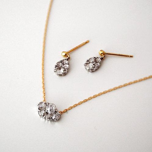 "Rose cut Diamond ""Round"" Necklace 0.15ct"