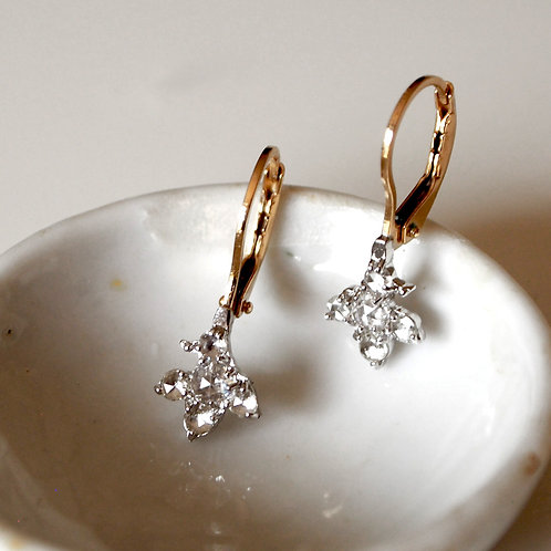 "Rosecut Diamond Earrings ""Leaf"""