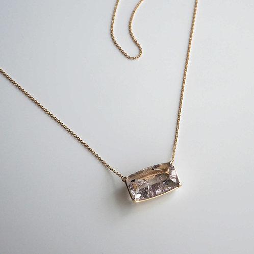 Red Rutile Quartz Necklace
