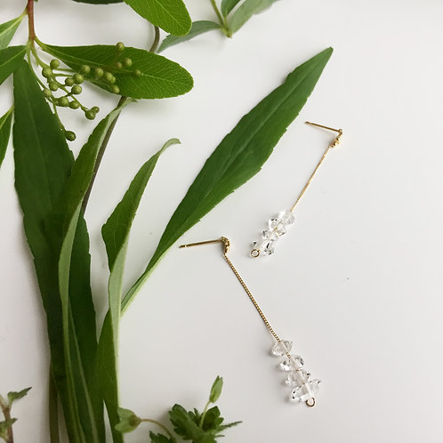 Herkimer Diamond Long chain Earrings