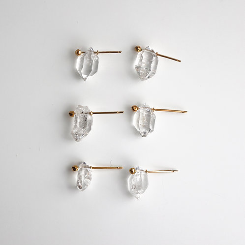 Herkimer Diamond Stad Earrings