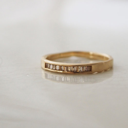 Brown Baguette Diamond Ring