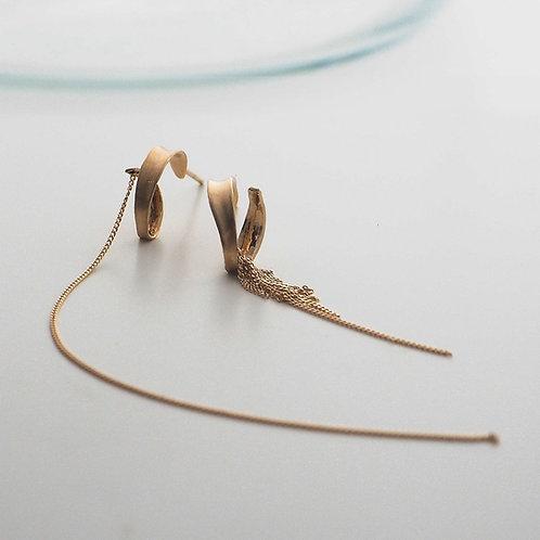 Twisted leaf Earrings Long&short