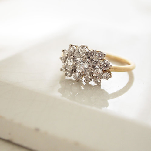 Diamond Cluster Ring with KIKI !