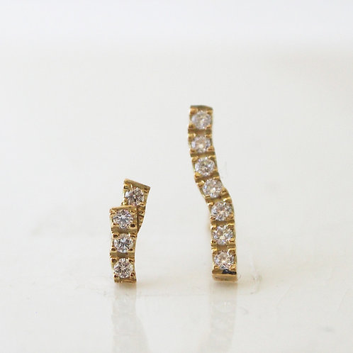 Diamond Branch Earrings