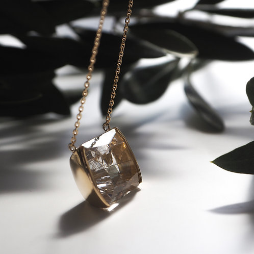 Silver- rutile Necklace