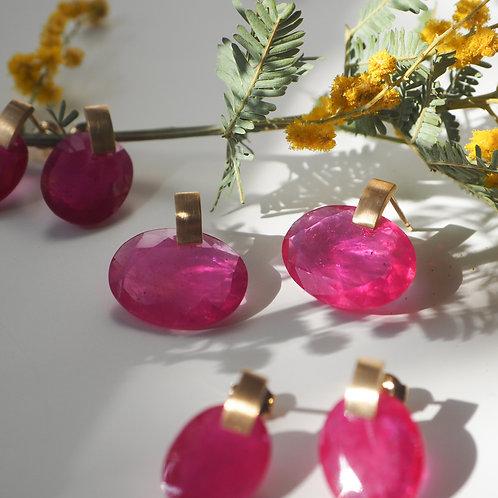 Ruby + Box Earrings 2021 -L-
