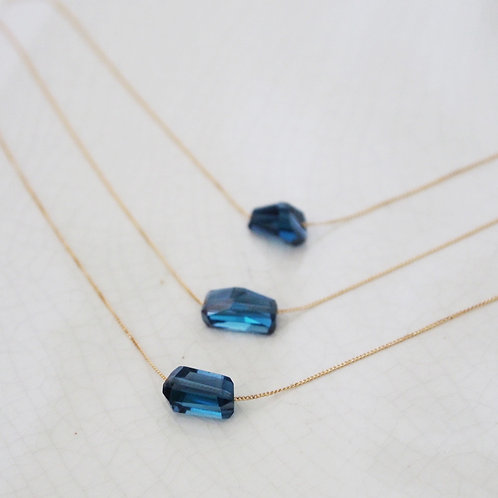 London Blue Topaz Drop Necklace