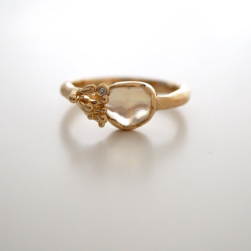Water Opal Big Ring -S-