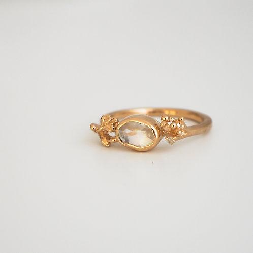 Moonstone Cut pavilion Ring #10
