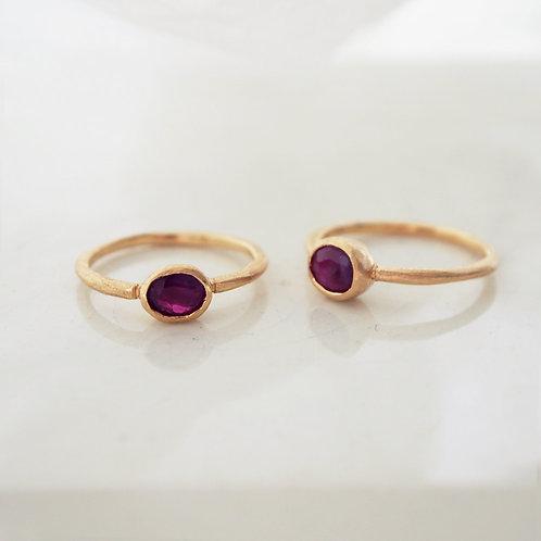 Ruby K18 Ring -S-
