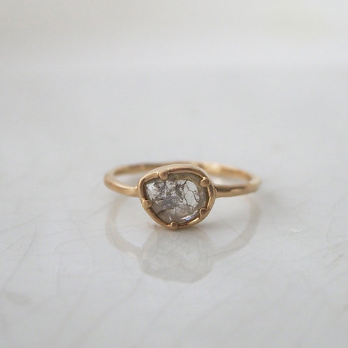 Sliced Diamond Ring