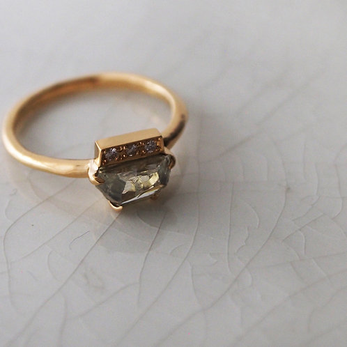 1ct Rough-cut Diamond Ring
