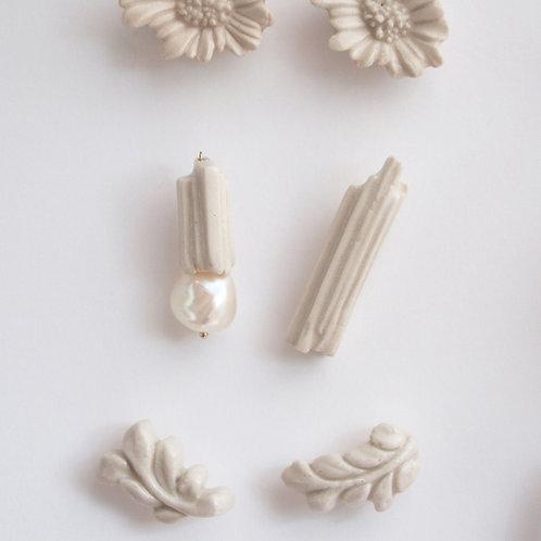 a little piece of column, Porcelain Earrings