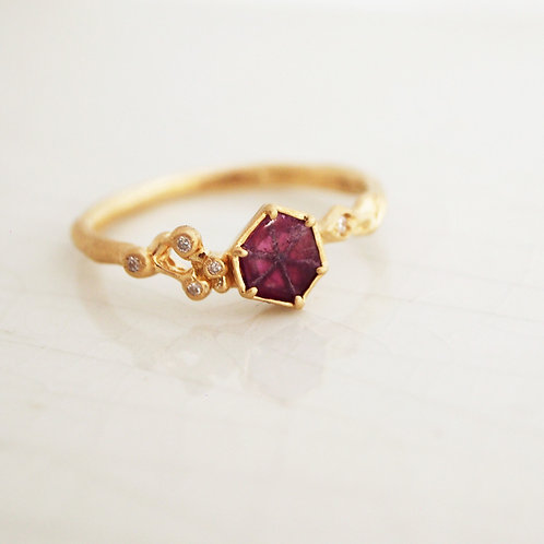Trapiche Ruby Ring