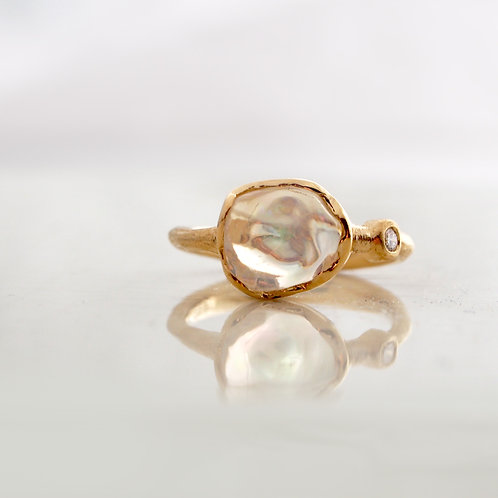 Water Opal Big Ring -L-