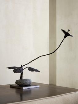 2012 - Hibiscus - bronze / stone / steel -