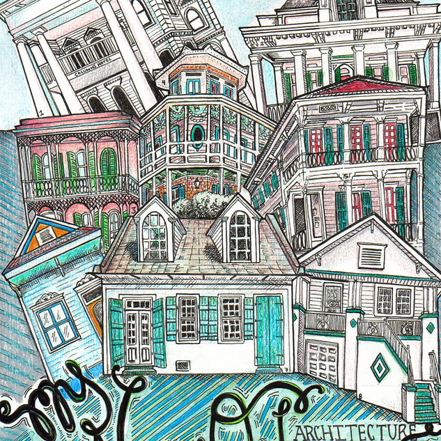 My Nola Architecture Travel Art