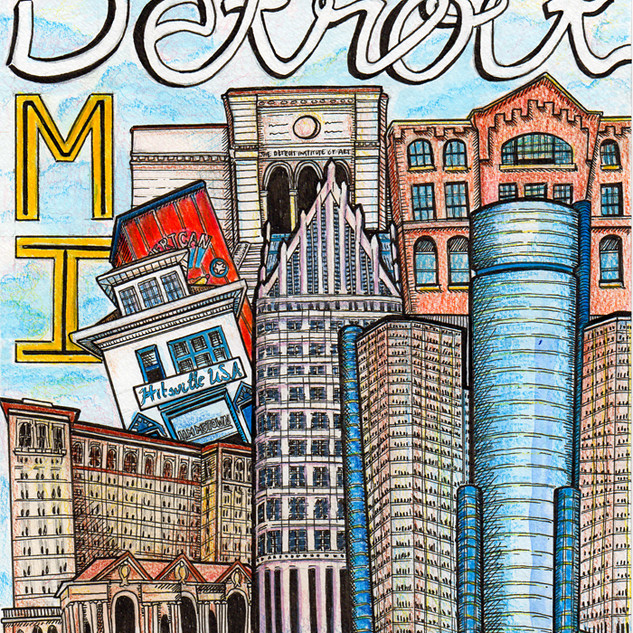 Detroit Travel Art