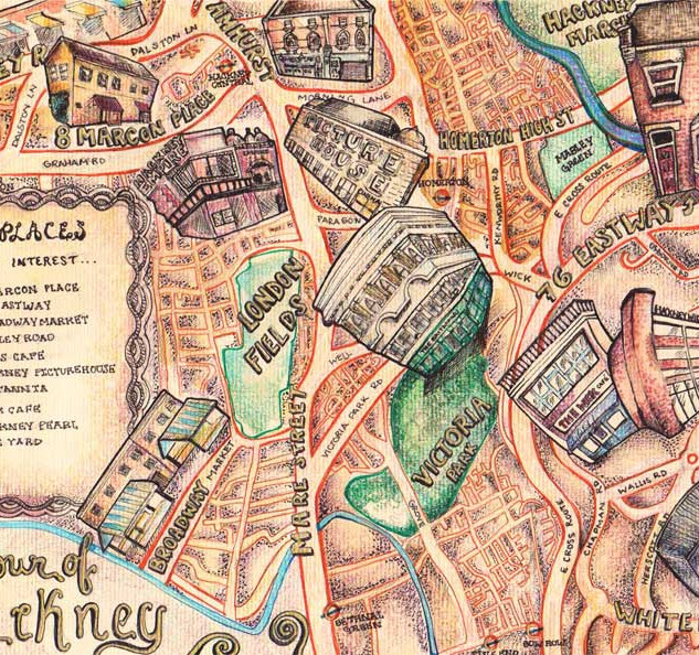 Hackney, London Map