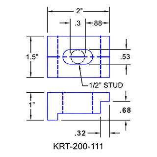 #KRT-200-111 Kurt Vise Clamp