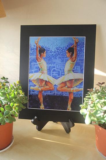 "Aesha Ashe En Pointe Reflection - 11""x14"" Print"