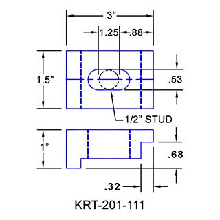 #KRT-201-111 Kurt Vise Clamps
