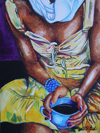 Coffee in my Cup - Original Painting