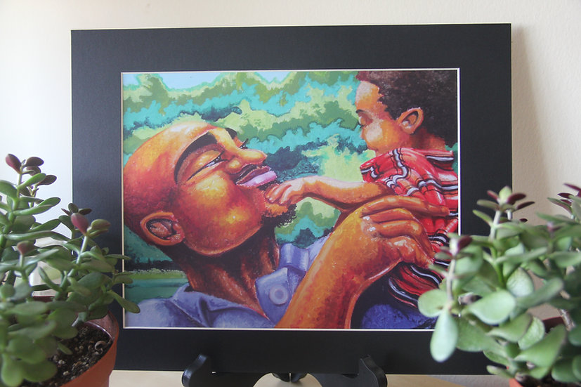 "Daddy Really Loves Me - 11""x14"" Print"