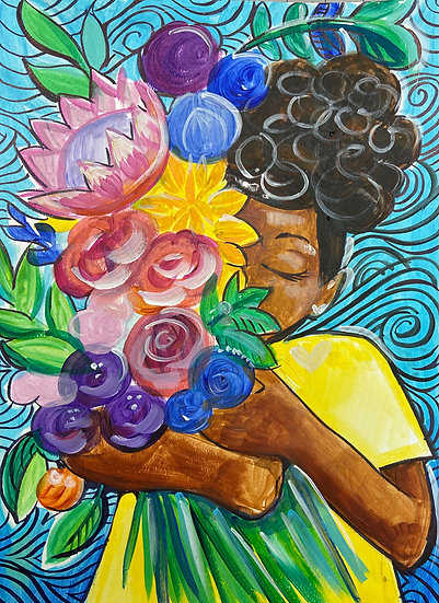 """HBD Erica! """"Flowers for You"""" - &Paint Party Ticket"""