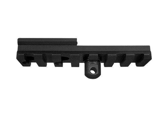 Front Rail with QD Post, Steel Low Profile