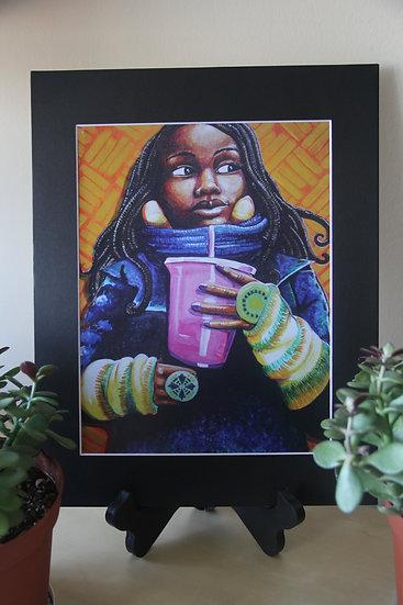 "Pink Cup Bundled Up - 11""x14"" Print"