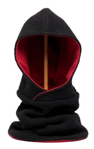 Hoodiescarf black-red