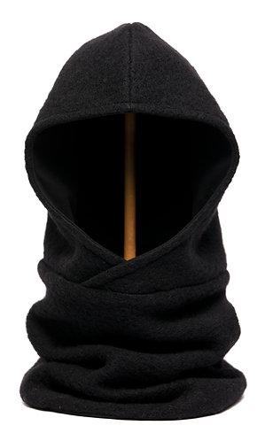 Hoodiescarf black-black