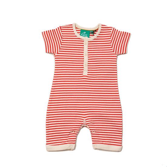 Nautical Striped Organic Shortie Romper