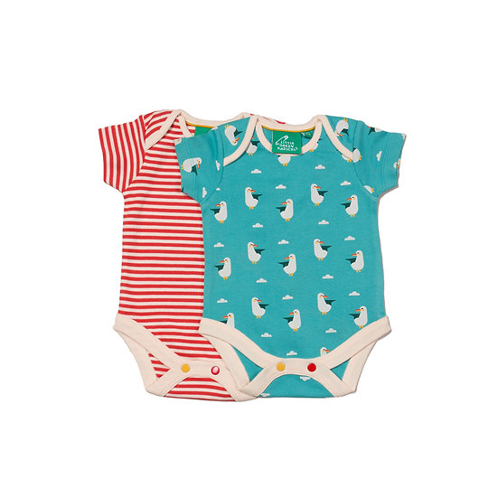 Summer Seagull Organic Baby Bodies Set - 2 Pack