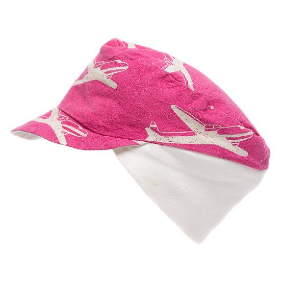 2nd Hand Cap (pink/flugzeuge)
