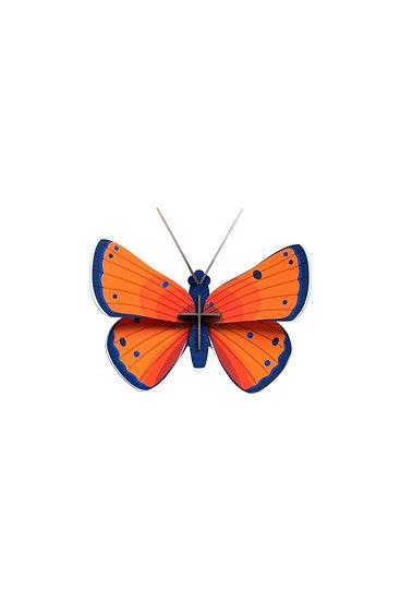 Wanddekoration Copper Butterfly