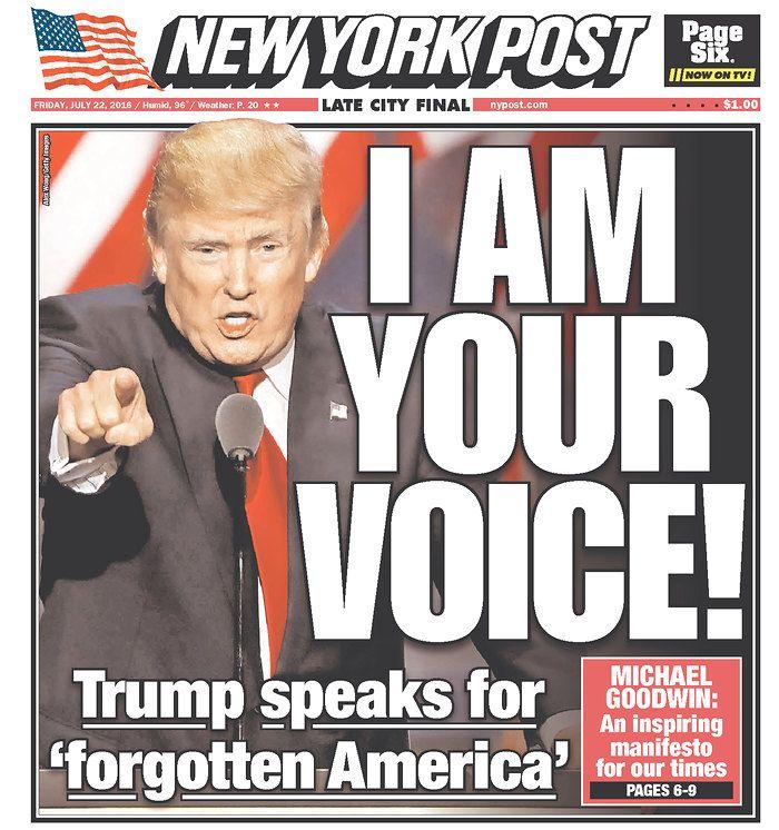 Trump Acceptance Speech 2016 NY Post