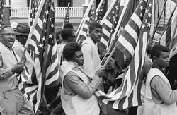 Flags Selma Marchers Draped