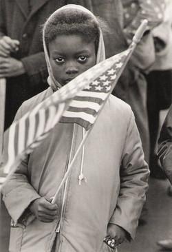 girl and her flag NC