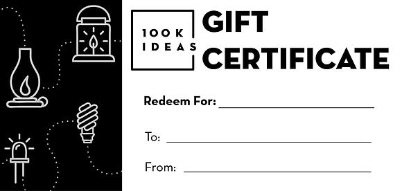 100K Ideas Gift Certificate