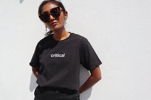 critical t-shirt (black)