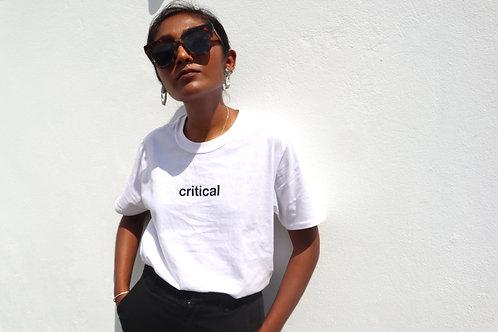 critical t-shirt (white)