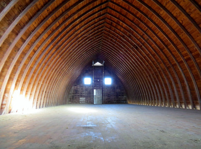 Hay loft at Z & Z Farms (would make a wonderful setting for a wedding!)