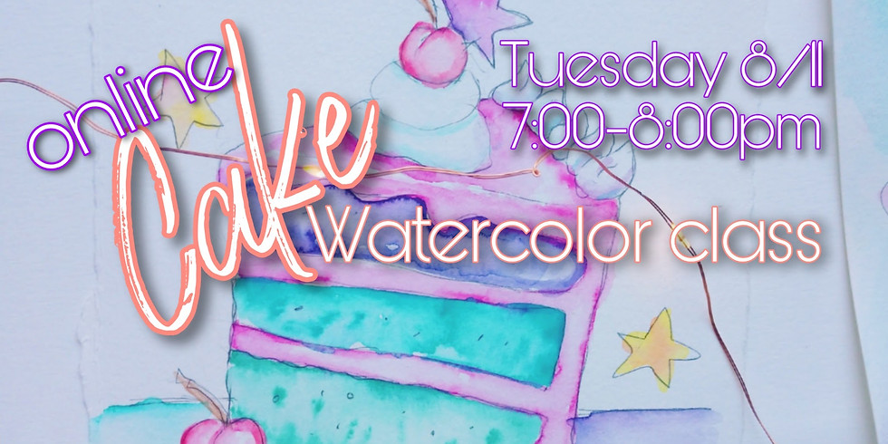 Cake Watercolor Class